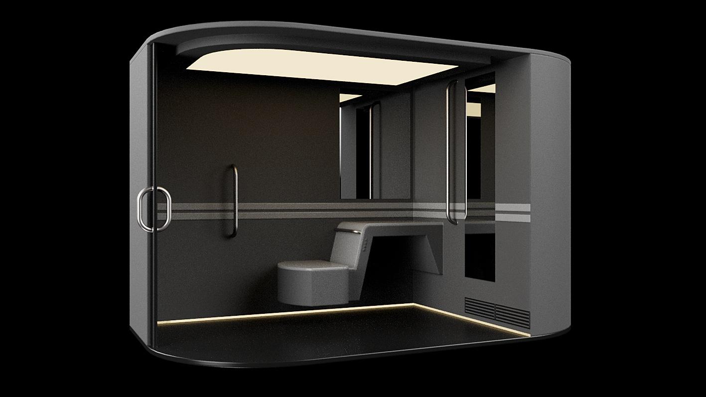 Trainvac train cabin interior